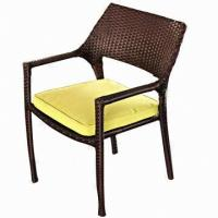 Wholesale Wicker Single Chair, Stackable Outdoor/Garden/Restaurant/Hotel Furniture with Aluminum from china suppliers