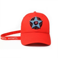 Wholesale ACE Headwear new arrival design red 6panel 3d Embroidery Star baseball caps hats from china suppliers