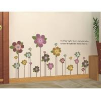 Wholesale PVC Flowers Removable Wall Stickers Eco Friendly For Bedroom from china suppliers