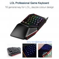 Wholesale LOL Professional Gaming Keyboard Blue Switches Game Single Hand Operation RGB Function from china suppliers