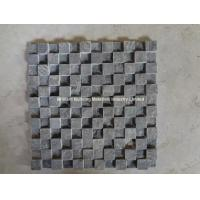 Wholesale Black Limestone Mosaic Split Uniform High-Low Design from china suppliers