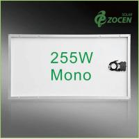 Buy cheap 25 Years Wanrranty , Shading Tolerance , 255W Monocrystalline Solar Panels from wholesalers
