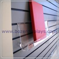 "Quality Clear Acrylic Slat-wall Book Shelves 6"" tall x 2"" depth x 9"" long for sale"