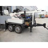 Quality 150m Portable Rotation Trailer Mounted Water Well Drilling Rig  full hydraulic for sale