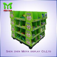 Wholesale OEM Ponit Of Purchase Cardboard Pallet Display For School Stationery , 4 Sides Printed from china suppliers