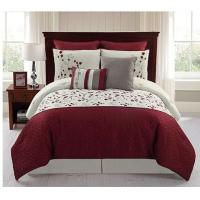 Wholesale 100% Cotton Woven Linen Bed Sheets , Adult Red And White Bedding Sets from china suppliers