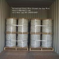 Quality Hot Dipped Galvanized Steel Cable Strand For Overhead Electrical Wire for sale