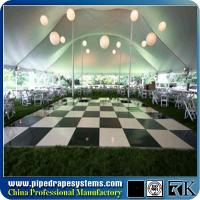 Wholesale Polished black and white plywood dance floor used in exhibition from china suppliers