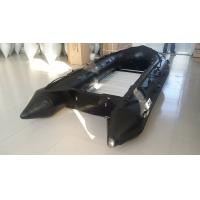Wholesale 1.2mm PVC Military Attack Boats For Patrol , Black Color Aluminum Floor from china suppliers