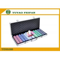 Wholesale High Value Beautiful 500 Piece Poker Chips Sets For Gambling / Home from china suppliers