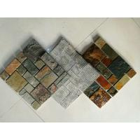 Wholesale Multicolor Slate Mosaic,Natural Stone Mosaic Pattern,Slate Mosaic Wall Tiles,Interior Stone Mosaic from china suppliers