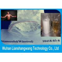 Wholesale CAS 10418-03-8 Injectable Anabolic Steroids For Cutting Cycle , Stanozolol Winstrol Depot from china suppliers