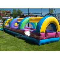 Wholesale 28 ft N Slide Rainbow Colorful Waterproof Inflatable Bouncy Slide With Blower from china suppliers