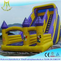 Wholesale Hansel top selling china outdoor use inflatable bouncer slide soft play equipment from china suppliers