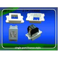 Wholesale France FACE Plate Frame 1 Port RJ45 Face Avant Frame 23x28 from china suppliers