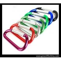 Wholesale Professional 6cm aluminum carabiner standard D shape not for climbing colorful carabiners from china suppliers