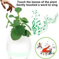 Wholesale Music Flower Pot K3 Portable Bluetooth Speaker Changeable Colors DC 5V LED Smart Lights from china suppliers