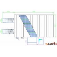 Quality WD-300 Side Draft Paint Booth  5 Rows Of Grilles Made By Flat Bar / Twisted for sale