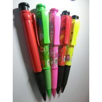 Buy cheap big size promotional gift plastic logo ball pen,jumbo plastic promo ball pen from china factory from wholesalers