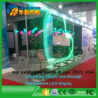 Wholesale Transparent Glass Window Video Wall Led Screen Full Color 6000cd/sq.m from china suppliers