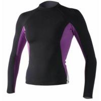Wholesale Women's Long Sleeve Lycra Rash Guard UV 50 Compression Swimming Suit Top T-shirt from china suppliers