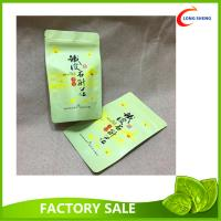 Wholesale Custom Made Doypack / Bottom Gusset / Stand Up Plastic Bags , Green Tea packaging Bags from china suppliers