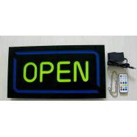 Wholesale Reisn Open sign,shop sign,store sign, hanging  business sign, exit sign, no smoking sign open sign neon from china suppliers