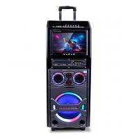 Wholesale Small Portable Bluetooth Trolley Speaker With Disco Light / Led Display from china suppliers
