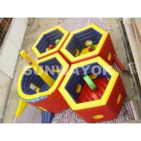Wholesale Honeycomb Inflatable Fun City / 18 Oz PVC Inflatable Play Station For Kids from china suppliers