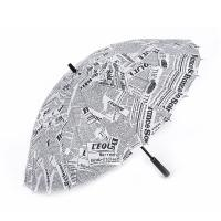 Wholesale 23 Inch 24 Ribs Attractive Fashion Design News Paper Printing Straight Umbrella from china suppliers