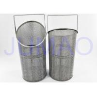Wholesale 304 Stainless Steel Filter Basket , Food Grade Basket Filter Strainer Element from china suppliers