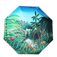Wholesale Good Ladies beautiful High quality 3-fold full color print fashion umbrella from china suppliers