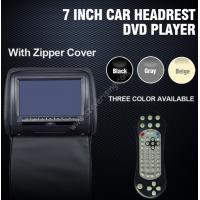 "Wholesale 7"" Best  Car Headrest DVD System with Zip DVD Headrest for all cars from china suppliers"