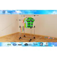 Wholesale ABS Outdoor Telescopic Clothes Rack , Folding Clothing Rack Stand from china suppliers