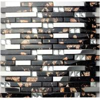 Wholesale Diamond Crystal Glass Bathroom Backsplash Tile Blend 304 Stainless Steel Sheet from china suppliers