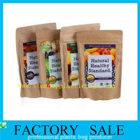 Wholesale Healthy Food Powder Packaging , Kraftpaper Stand Up Pouches With Resealable Ziplock from china suppliers
