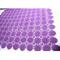 Wholesale Floral Purple Crochet Table Cover / Hollow Out Vintage Crochet Table Runner from china suppliers