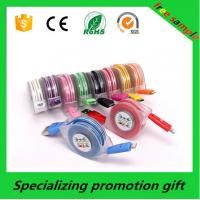 Wholesale Colorful Electronic Promotional Products , 1m / 2m / 3m Led Lighting Micro Usb Data Cable from china suppliers