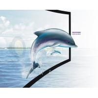 Wholesale 3D Silver Immersive curved theater screen , home cinema projection screen from china suppliers