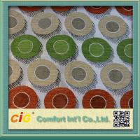 Quality Wholesale High End Flocking Sofa Upholstery Fabric , Leaf Design Chair Fabrics for sale