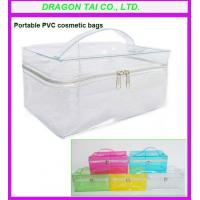 Wholesale Portable PVC makeup bag, pvc cosmetic bags, pvc zippered bag from china suppliers