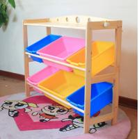 Wholesale Tiger School furniture -- montessori 2 -storey put-away cabinet shelf/ kids furniture from china suppliers