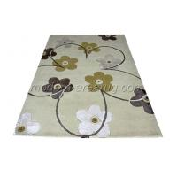 Wholesale Handmade Milky White / Beige Acrylic Floral Area Rug / Carpet Customized Pattern from china suppliers