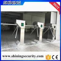 Buy cheap gym card reader tripod turnstile with led light from wholesalers