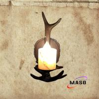 Wholesale Maso Vintage Style resin material antlers wall sconce retro lamp with marble cover E14 screw LED bulb from china suppliers