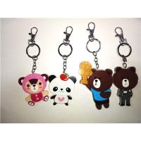 Wholesale Popular Mini 3D soft PVC/Magic silicone LED Bear Key chain/ Key Ring from china suppliers