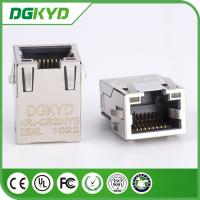 Wholesale 1Port Tab Up Plate RJ45 Ethernet Connector , SMD cat6 cable rj45 connectors with plating from china suppliers