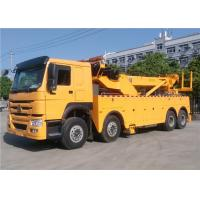 Wholesale HOWO 12 Wheeler 50 Ton Tow Truck , 360 Degree Rotating Flatbed Tow Truck from china suppliers