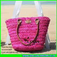 Wholesale LUDA rose red cornhusk straw handbags fashion handmade lady summer beach totes from china suppliers