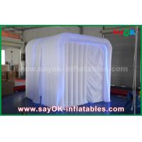 Wholesale White Inflatable Event Photo Booth with RGB Led Light / Two Doors from china suppliers